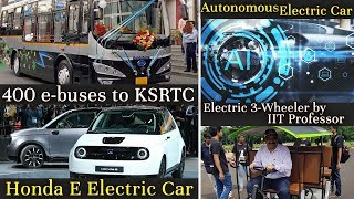 Electric Vehicles News 24 - Deshla 3-wheeler, Autonomous EV Car, Honda E, KSRTC e-buses