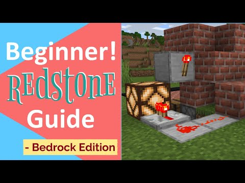 MCPE Redstone Basics!!  Redstone Tutorial For Minecraft PE/Bedrock/Windows 10
