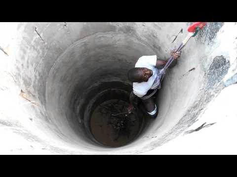 Rescue of Common Genet from a well, PN Diawling, Mauritania