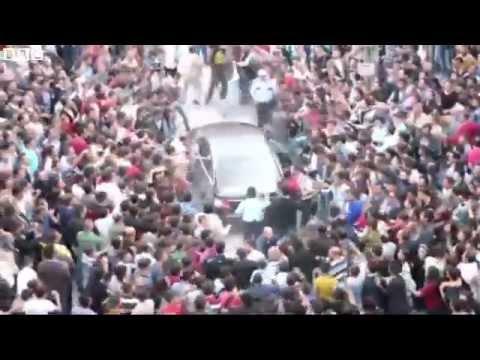 Turkey PM's car attacked in Soma