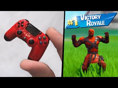 Every death my CONTROLLER gets SMALLER in Fortnite