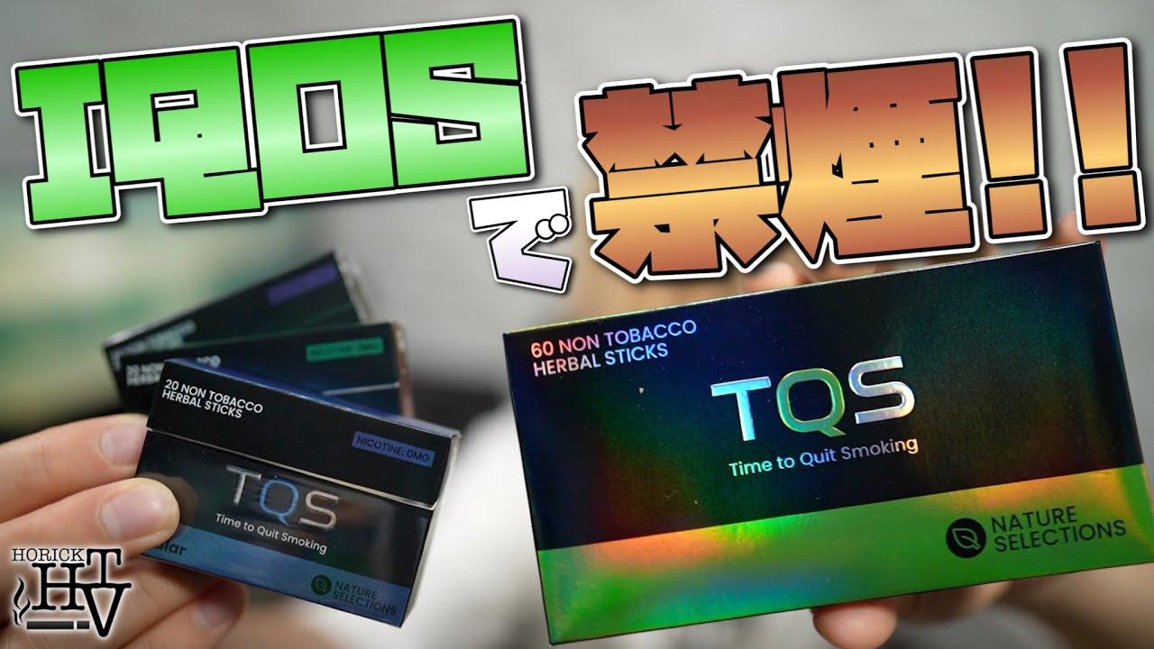 【IQOS対応】禁煙、節煙できる!! ニコチン0の茶葉スティック『TQS  (ティーキューエス)』を3種類吸ってみた!! ~アイコス~