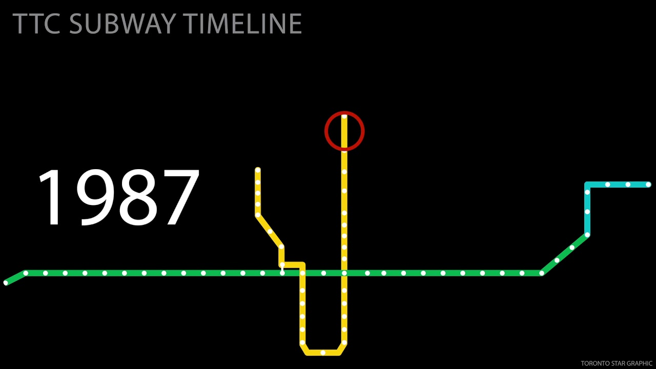 Toronto Subway Map.A Timeline Of The Ttc Subway Line