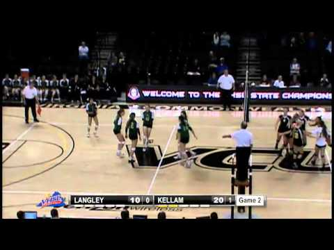 2012 VHSL  AAA Girls Volleyball Semifinals - Floyd Kellan vs Langley