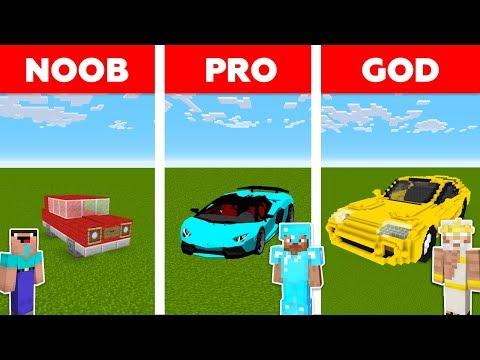 Minecraft NOOB vs PRO vs GOD : SPORTS CAR BASE CHALLENGE in minecraft / Animation thumbnail