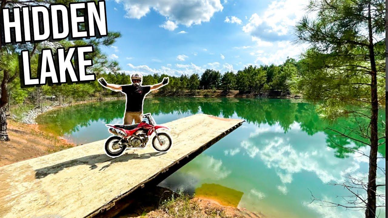 FOUND ABANDON LAKE ON PIT-BIKES! *NEW TRAILS*