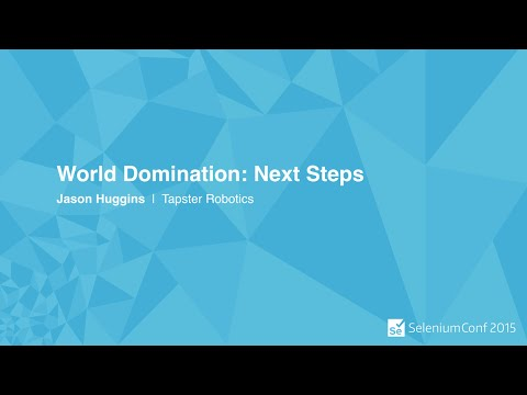 Keynote - World Domination: Next Steps