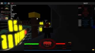 Random guy on Tokyo Ghoul Bloody Nights on Roblox jumps but fails.