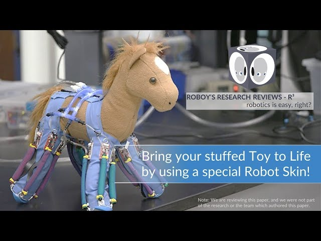 Bring your stuffed Toy to life by using a special Robot Skin I R3 Roboy's Research Reviews #10
