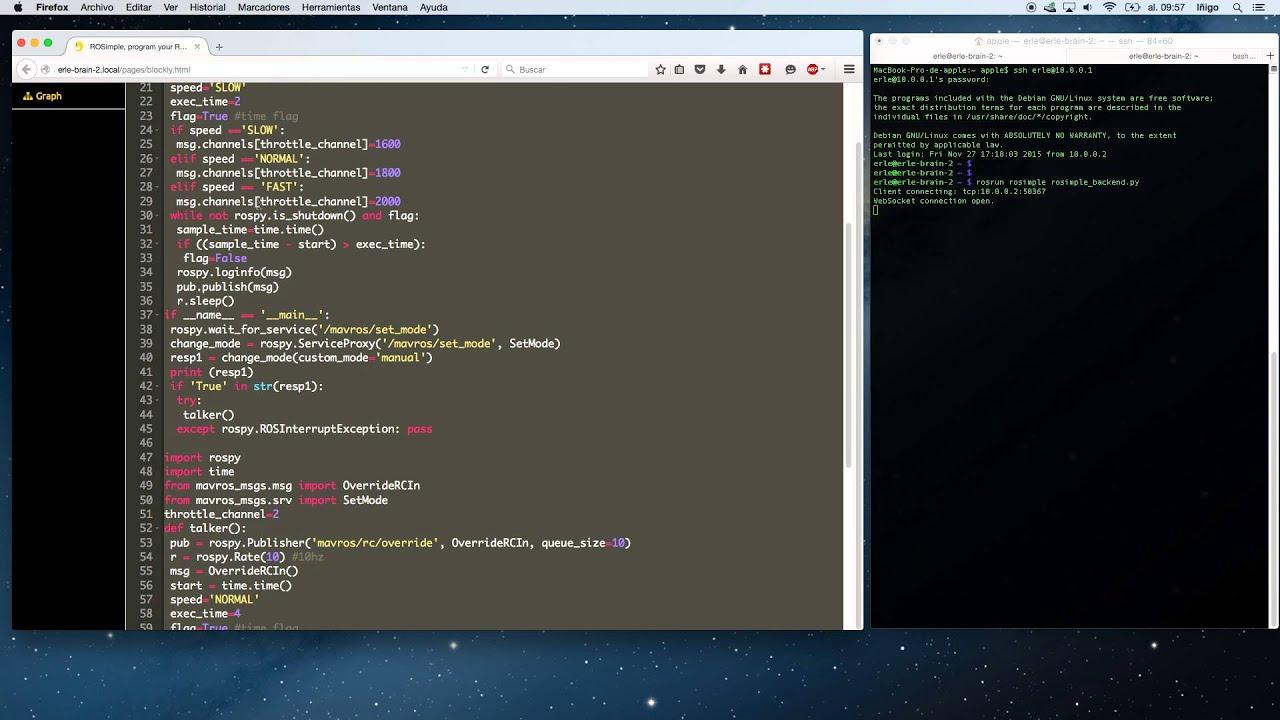 Programming APM using ROSimple