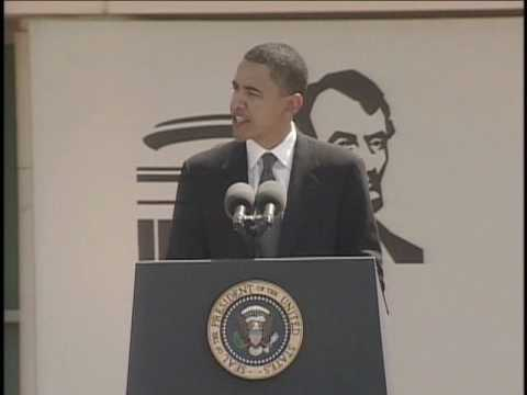 Senator Barack Obama Speaks About Abraham Lincoln at Museum Dedication