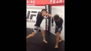 korean super boy doo ho sparring at ufc gym