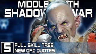 Shadow of War Skill Tree Revealed, New Orc Quotes - Shadow of War Gameplay - Full Fort Assault