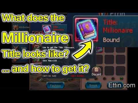 Sword Of Chaos, What Does The Millionaire Title Looks Like? How To Get It? By Ettin Gaming SoC Duke