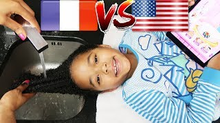 Gambar cover FRENCH vs AMERICAN: MIXED KIDS WASH DAY SWAP! Natural curly hair girls routine, coconut oil & style.