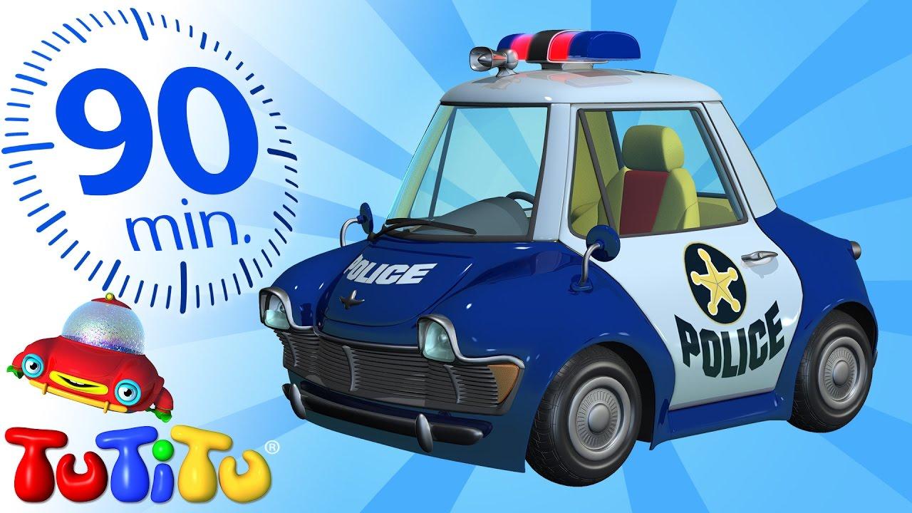 Tutitu deutsch polizeiauto und andere spielzeug auf
