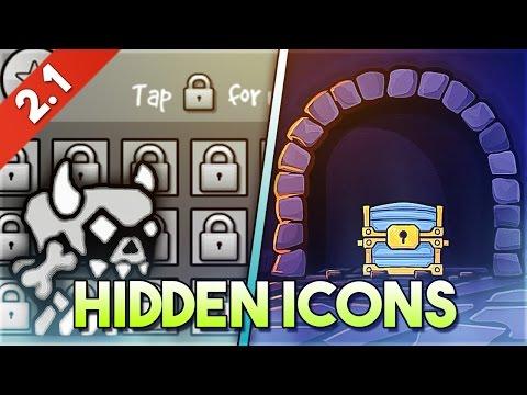Desbloquea TODOS los ICONOS OCULTOS de Geometry Dash 2.1! (Hidden Icons) | GuitarHeroStyles