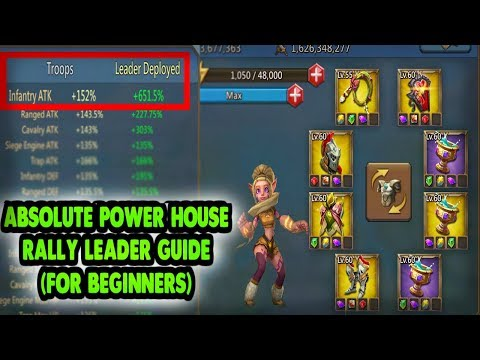Power House Rally Leading (How To Beginner Guide) Lords Mobile