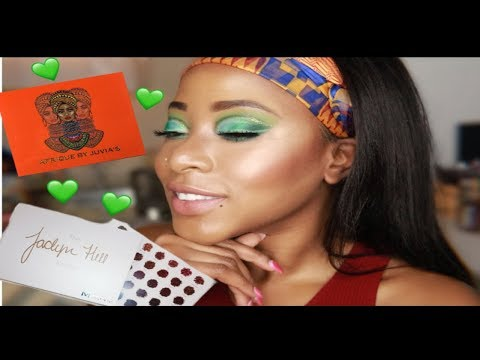 Get the bag green look ft morphe x jaclyn hill eyeshadow palette| juvia's place afrique thumbnail