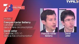 7/8 Politique – Emission du 10 mai avec FX Bellamy (DVD) et D. Jutier (EELV)