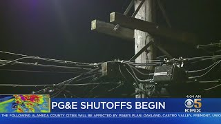 POWER OUTAGE: North Bay neighborhoods go dark as PG&E power outage begins