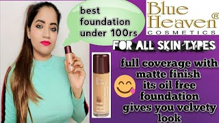 Best foundation under 100 rs Blue heaven oil free foundation review amp demo in telugu iministar