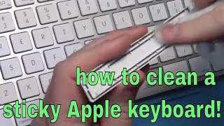 How to clean Apple keyboard keys