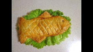 Рыба запеченная в слоеном тесте. Просто, празднично, вкусно!