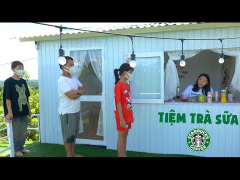 Chị Thơ Khai Trương Tiệm Trà Sữa Starbucks Ở Quê