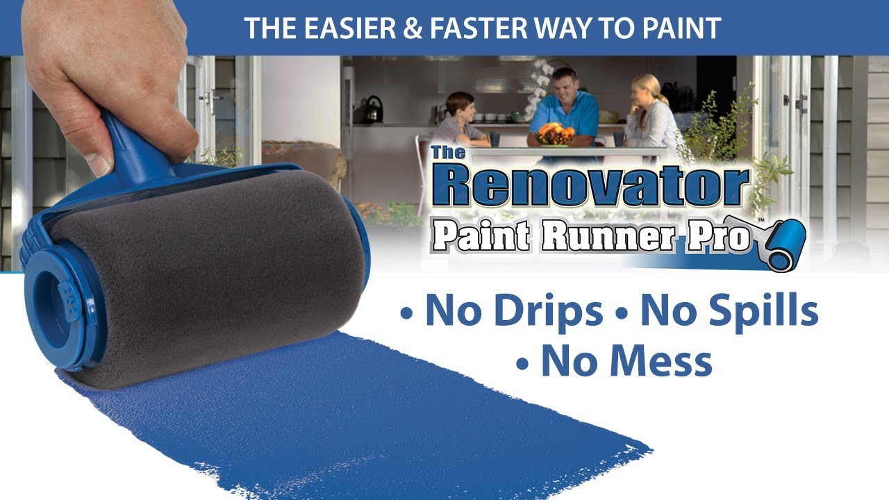 paint runner pro fb ad vs old technology rollers youtube. Black Bedroom Furniture Sets. Home Design Ideas