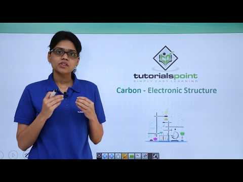 Organic Chemistry - Carbon Electronic Structure