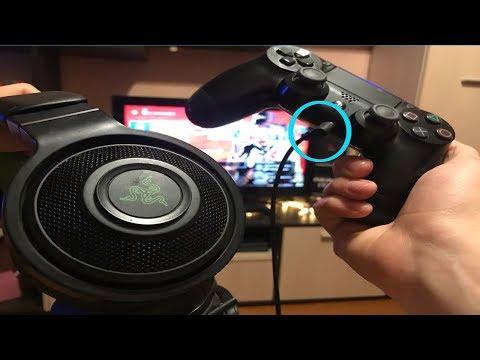Как подключить наушники к playstation 4