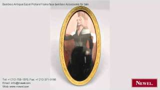 Bamboo Antique Easel Picture Frame Faux Bamboo Accessories