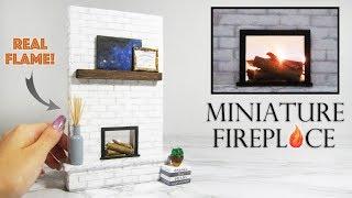 DIY Miniature Fireplace