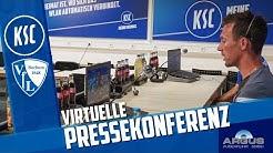 Virtuelle KSC-Pressekonferenz vor Bochum (27. Spieltag)