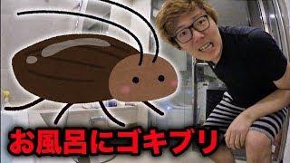 お風呂で巨大ゴキブリとバトルwww thumbnail