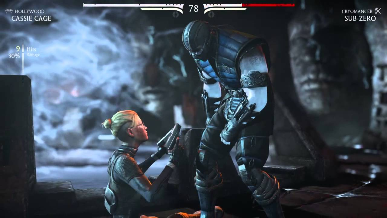 Mortal Kombat X Cassie Cage Nut Punch X Ray Youtube