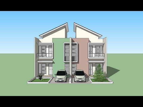 Sketchup house design tutorial youtube for Minimalist house sketchup