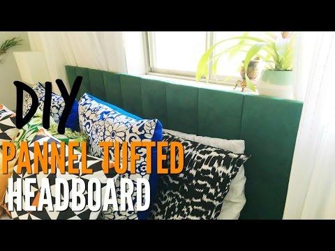 DIY Upholstered Headboard   Paneled Headboard