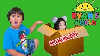 I MAILED MYSELF TO RYAN TOYS REVIEW in a BOX FORT to get the NEW Toys and It Worked! (Skit)