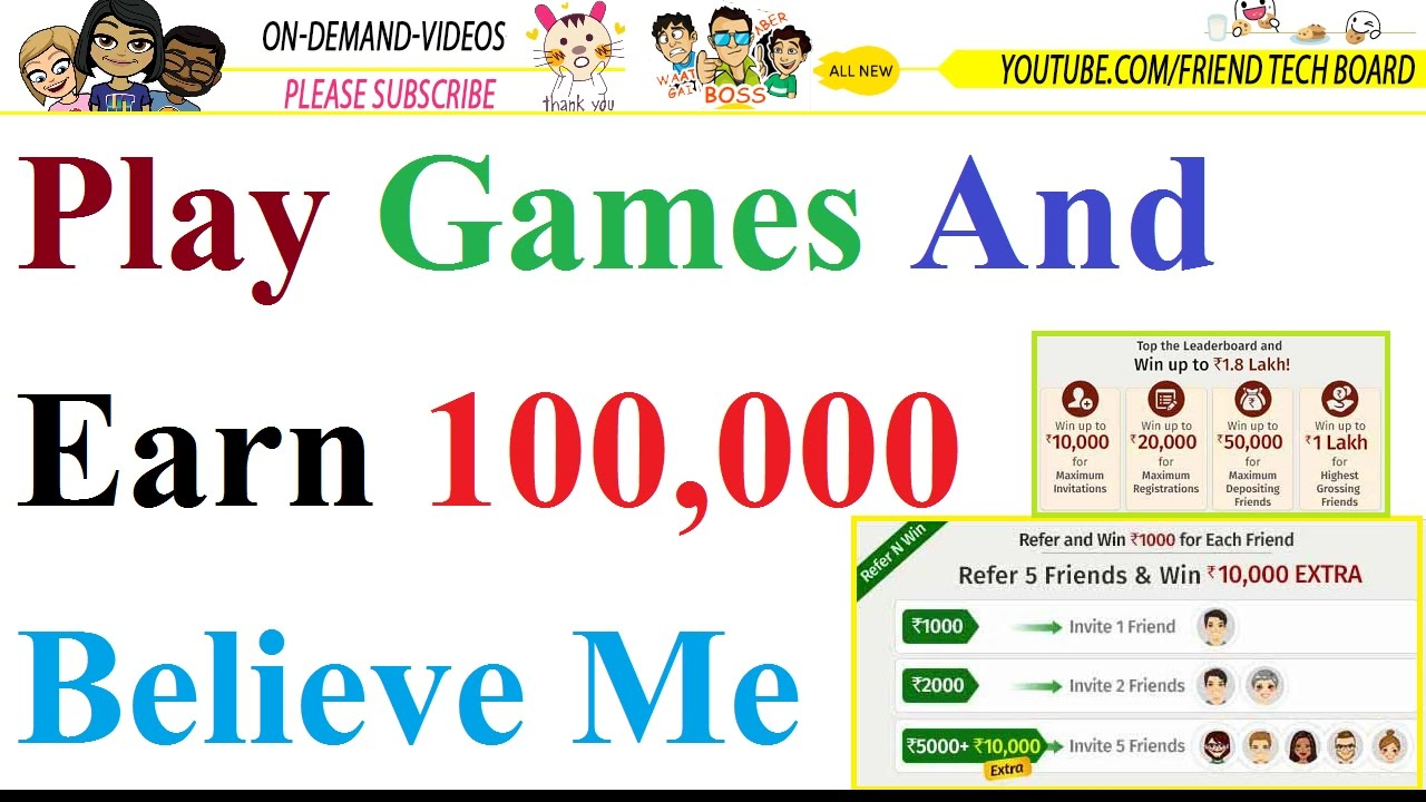 Play Games And Earn Money 100 000 Per Month Just Playing