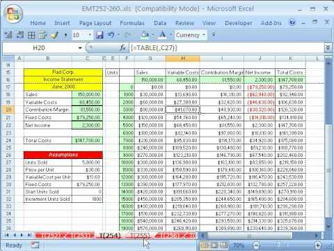 Excel Magic Trick # 254: Data Table Creates 100 Formulas