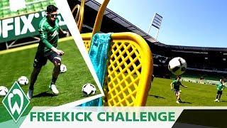 Freistoß Challenge 2: Zlatko Junuzovic | Thomas Delaney | Niklas Schmidt | Loui Eta