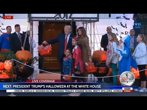 WATCH: President Trump Holds HALLOWEEN at The White House 10/30/17
