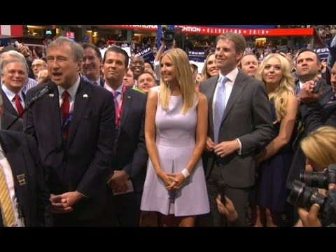 New York delegation puts Trump over the top at RNC