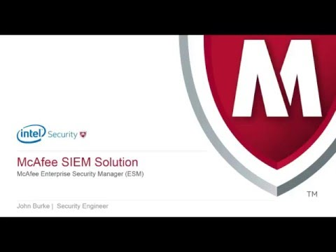 Intel Security SIEM webinar