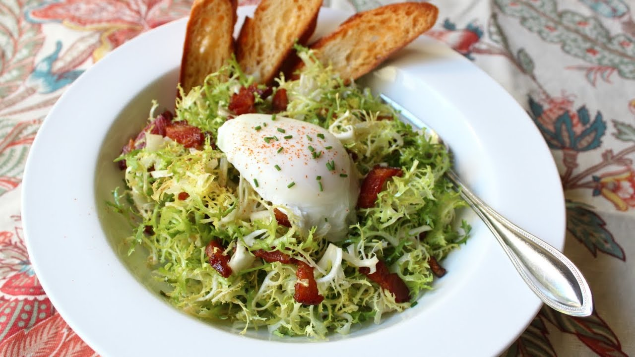 Salad Lyonnaise - Frisee Salad with Shallot Dijon Dressing ...