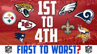 2018 NFL Season Predictions: NFL TEAMS THAT WILL GO FROM FIRST TO WORST IN THEIR DIVISION 2018