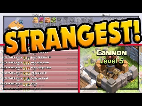 NEW! BANNED! Clash Of Clans STRANGE BUT TRUE Players, Clans, Villages!