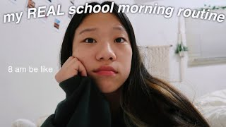 my REAL online school morning routine